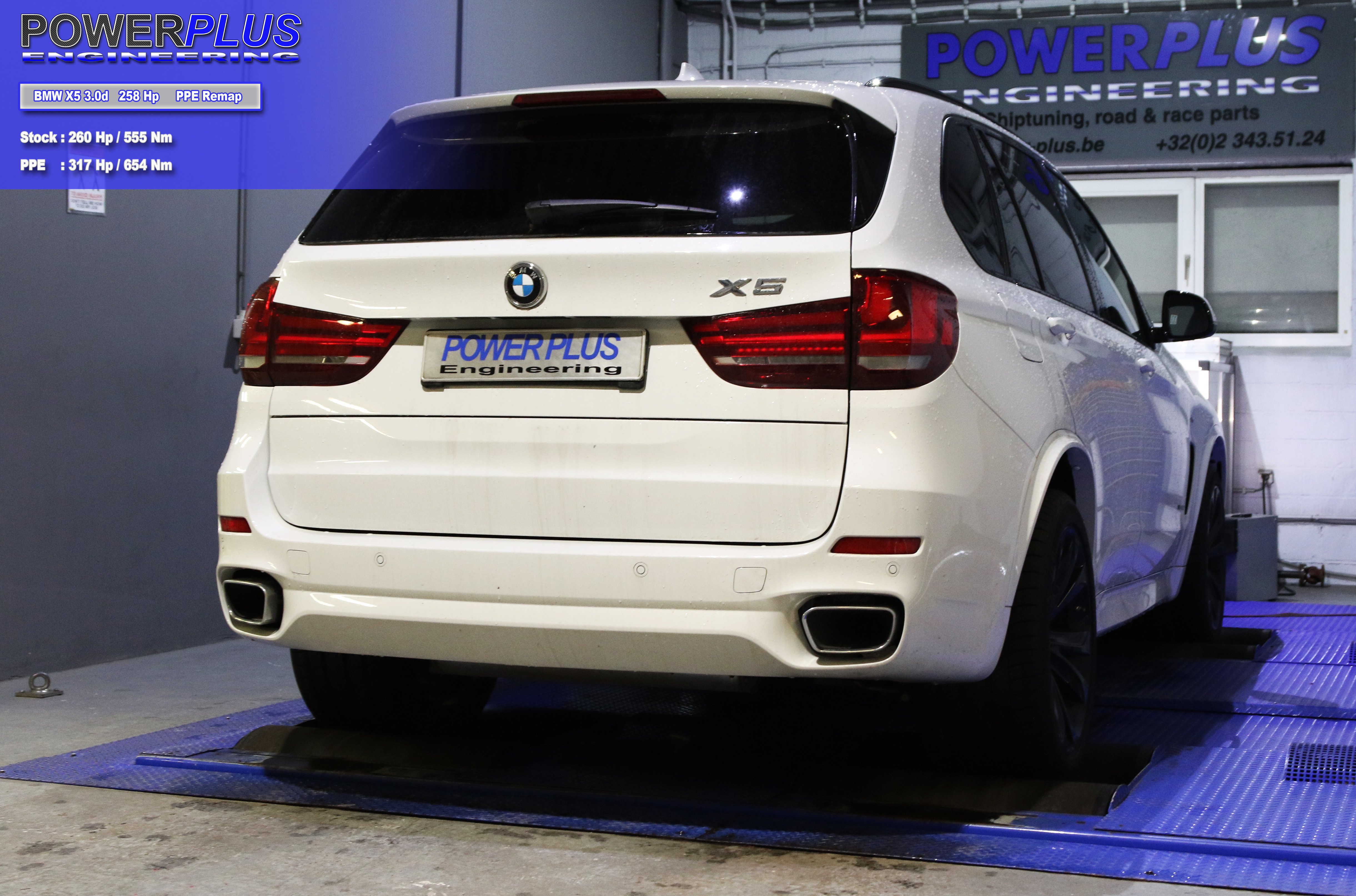 BMW X5 3 0d 258 Hp remapped to 317 Hp & 654 Nm
