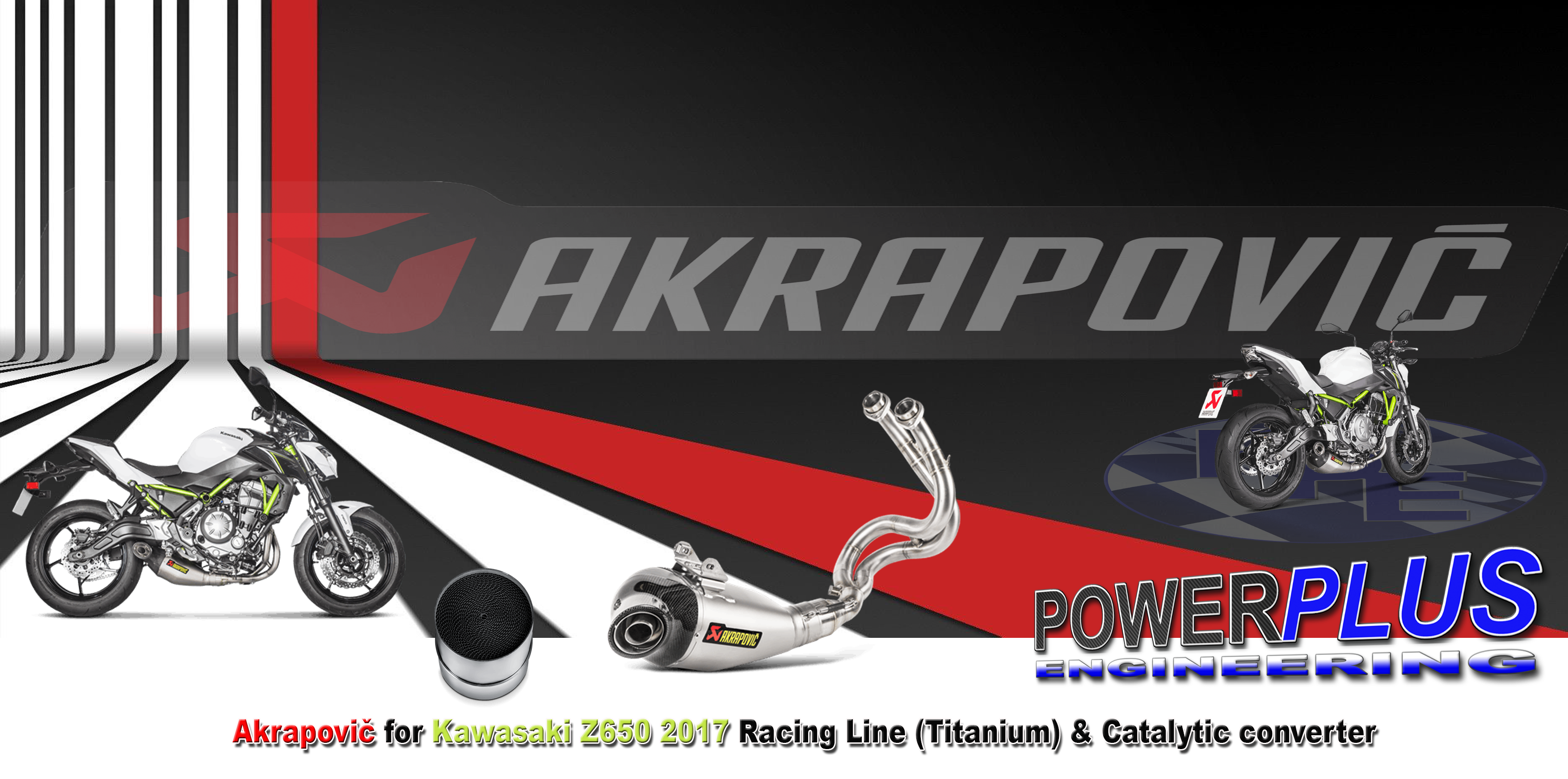 Pub Akra Akrapovic For Kawasaki Z650 2017 Racing