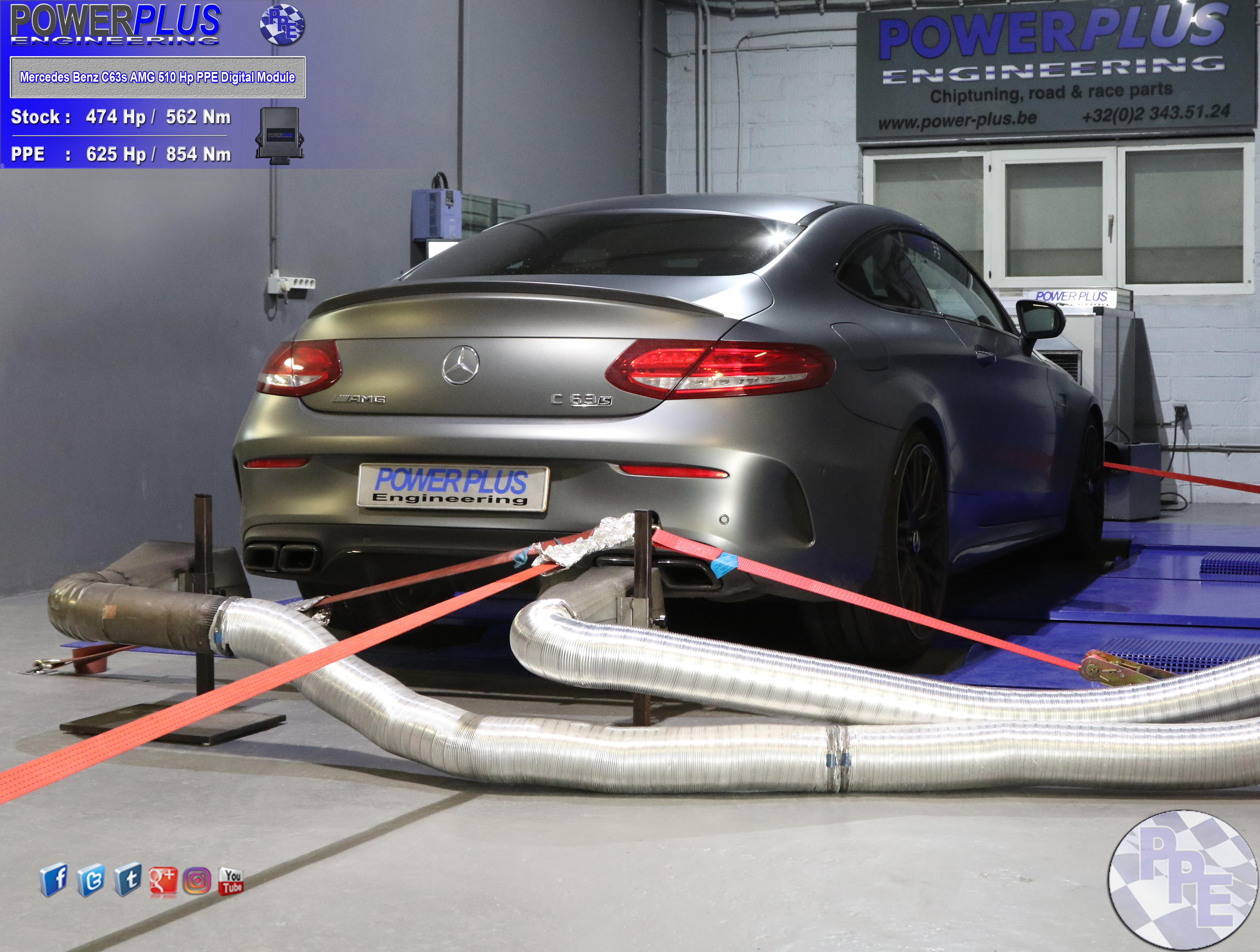 Mercedes Benz C63s AMG 510 Hp remapped with Digital Module