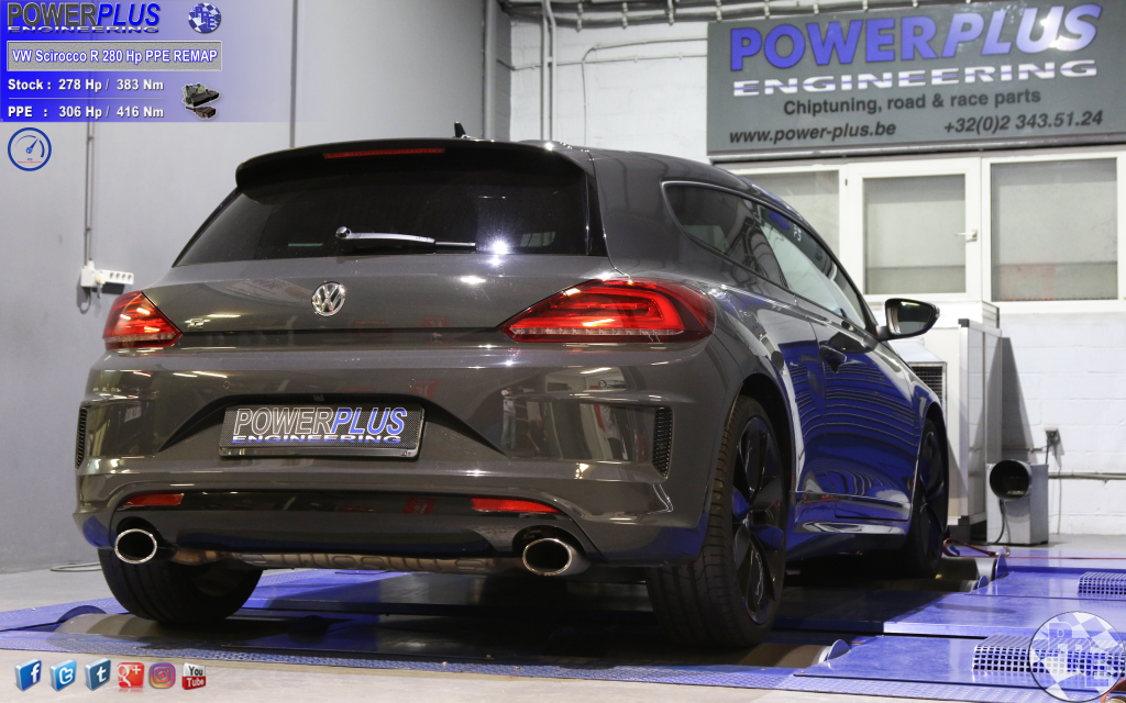 vw scirocco r 280 cv remapped to 306 hp  u0026 416 nm