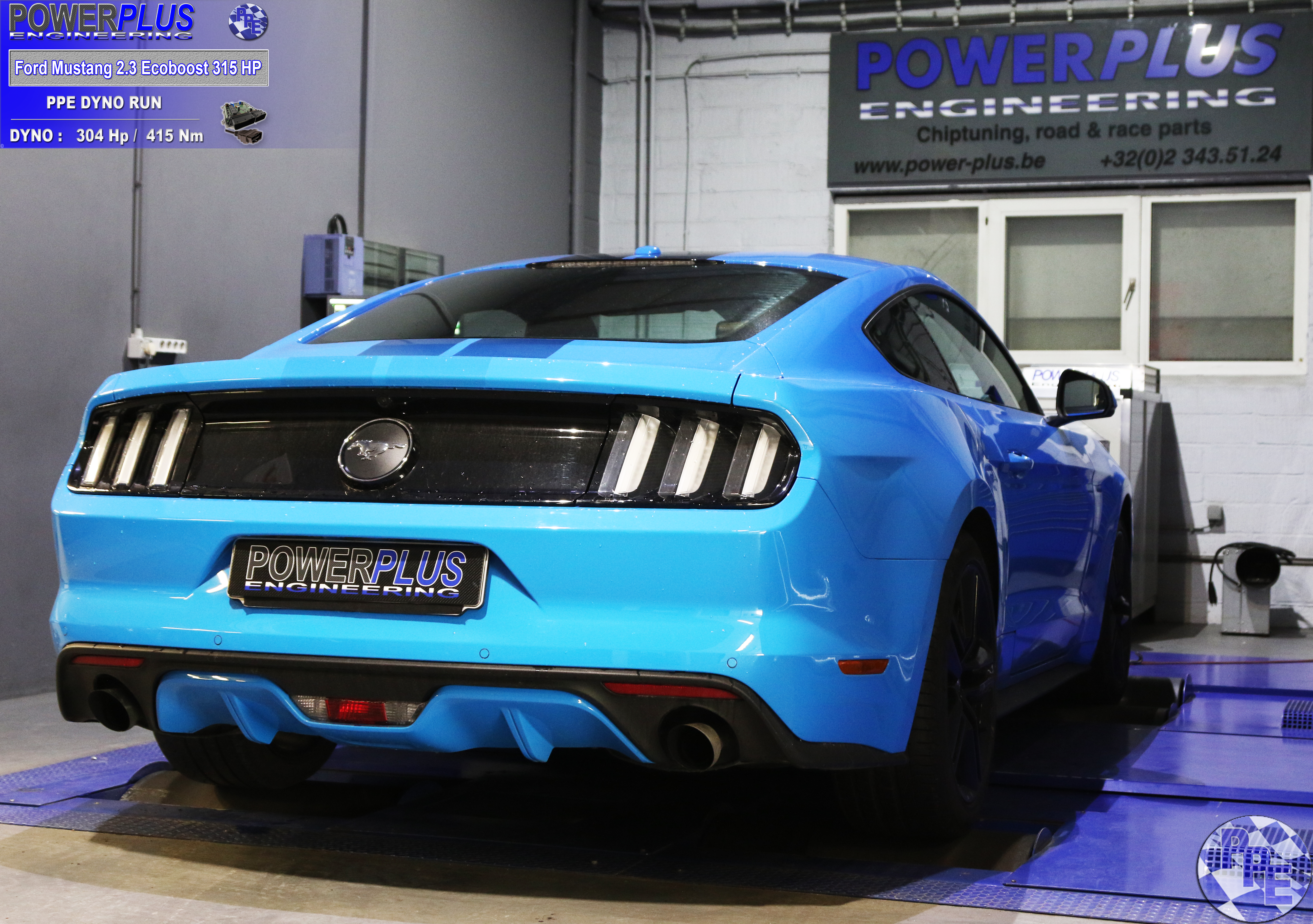 Ford Mustang 2 3 Ecoboost 315 Hp PPE DYNO RUN | Power Plus