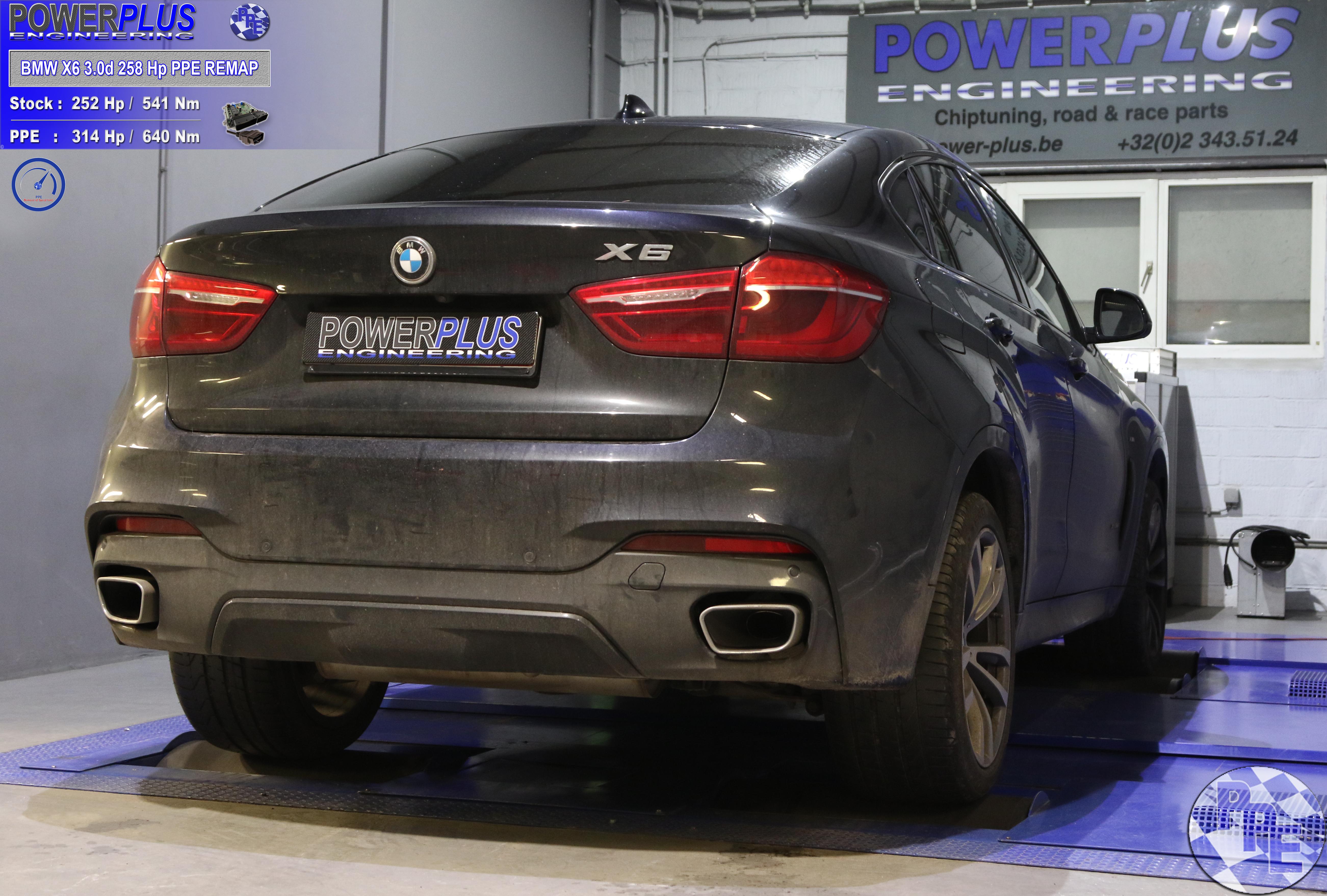 BMW X6 3 0d 258 Cv remapped to 314 Hp & 640 Nm