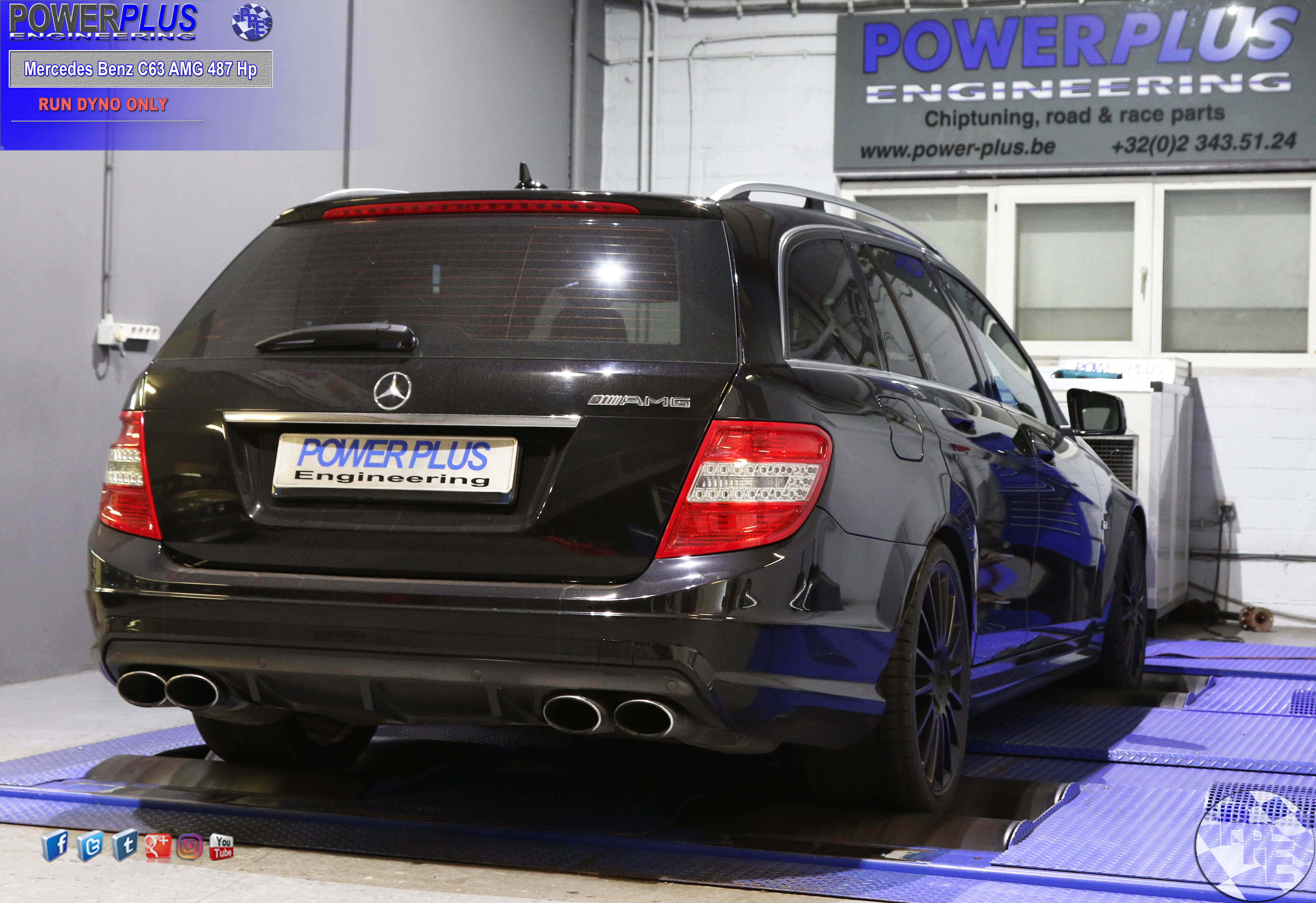 Mercedes Benz C63 Amg 487 Hp At Ppe Dyno Power Plus Engineering Final